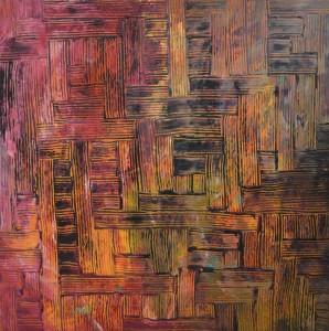 Ines Vaško, Labirint, akril na platnu 60 x 60 cm