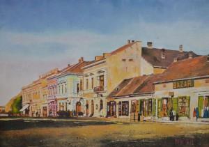Josip Majić,  Brodsko korzo ulje na platnu  45 x 65 cm