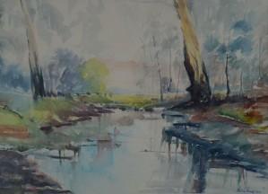Premuž Vlatka, Boje jeseni , akvarel na papiru 48 x 3cm