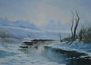 Premuž Antun, Zima na Mrsunji   70 x 50 cm ulje na platnu