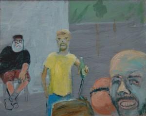 Zlatko Kozina, Američki umjetnik Paul McCarthy na baušteli akril na dasci 20 x 25 cm